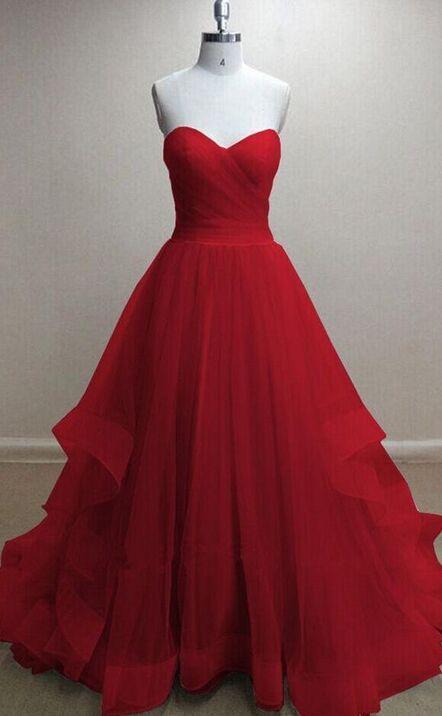Newest Prom Dressesplus Size Prom Dressesred Lace Up Prom Dresses