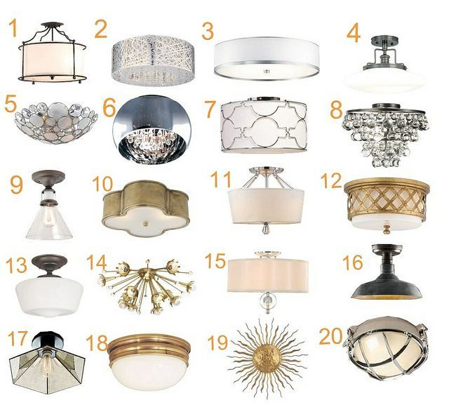 Flush and semi flush mount lights one of these could really help raise the
