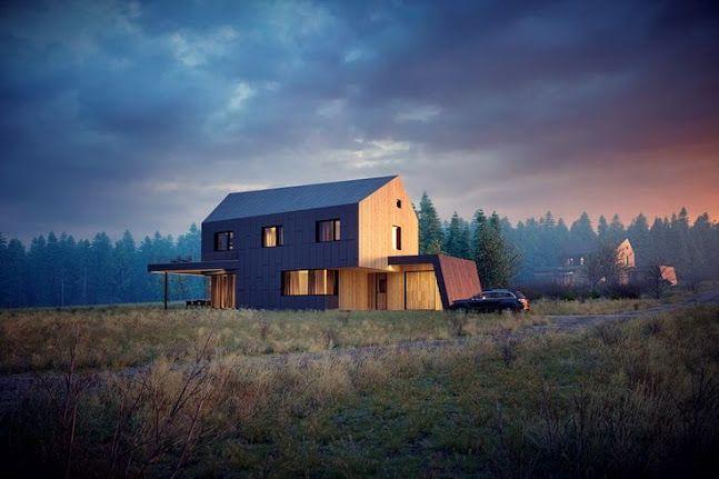 Mountain Cottages by Jan Kudelasek
