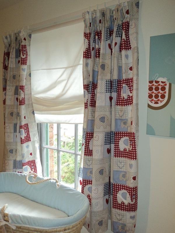 Elephant Design Nursery Curtains 39 95 Hippins Childrens Bedding