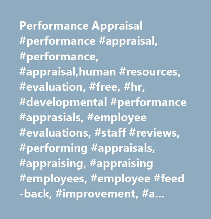 Performance Appraisal Performance Appraisal Performance