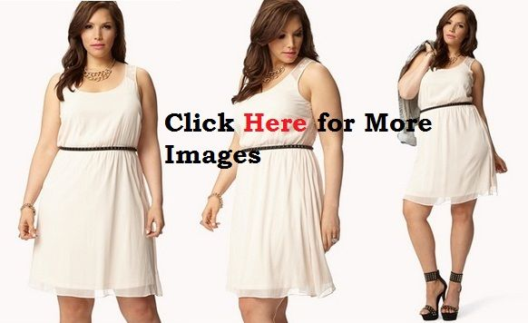 Plus Size All White Club Dresses With Belt Plus Size Clubwear