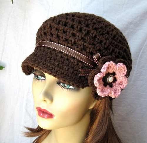 Gorros Tejidos A Crochet Para Jovenes  2e23099e9aa