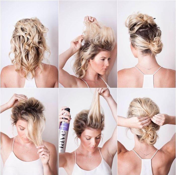 можно как сделать красивый пучок из волос фото думал