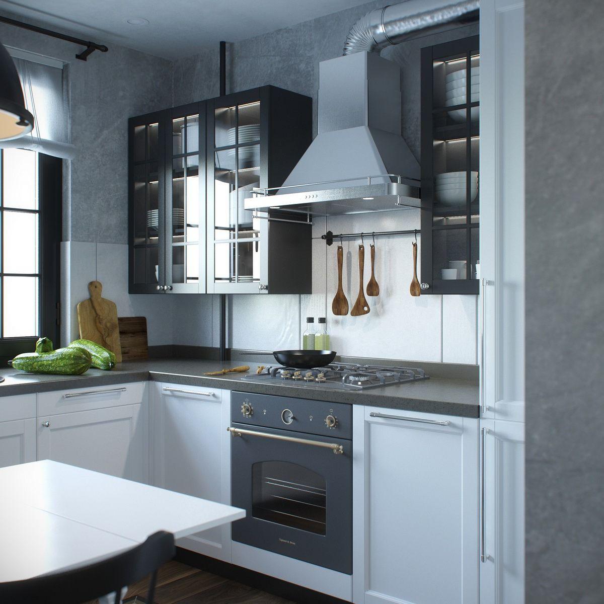 Visualization Kitchen Loft on Behance Visualization Kitchen