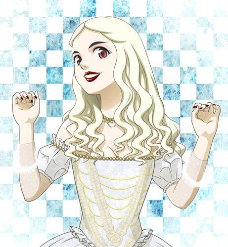 The White Queen Dibujo Del Sombrerero Loco Dibujos Reina