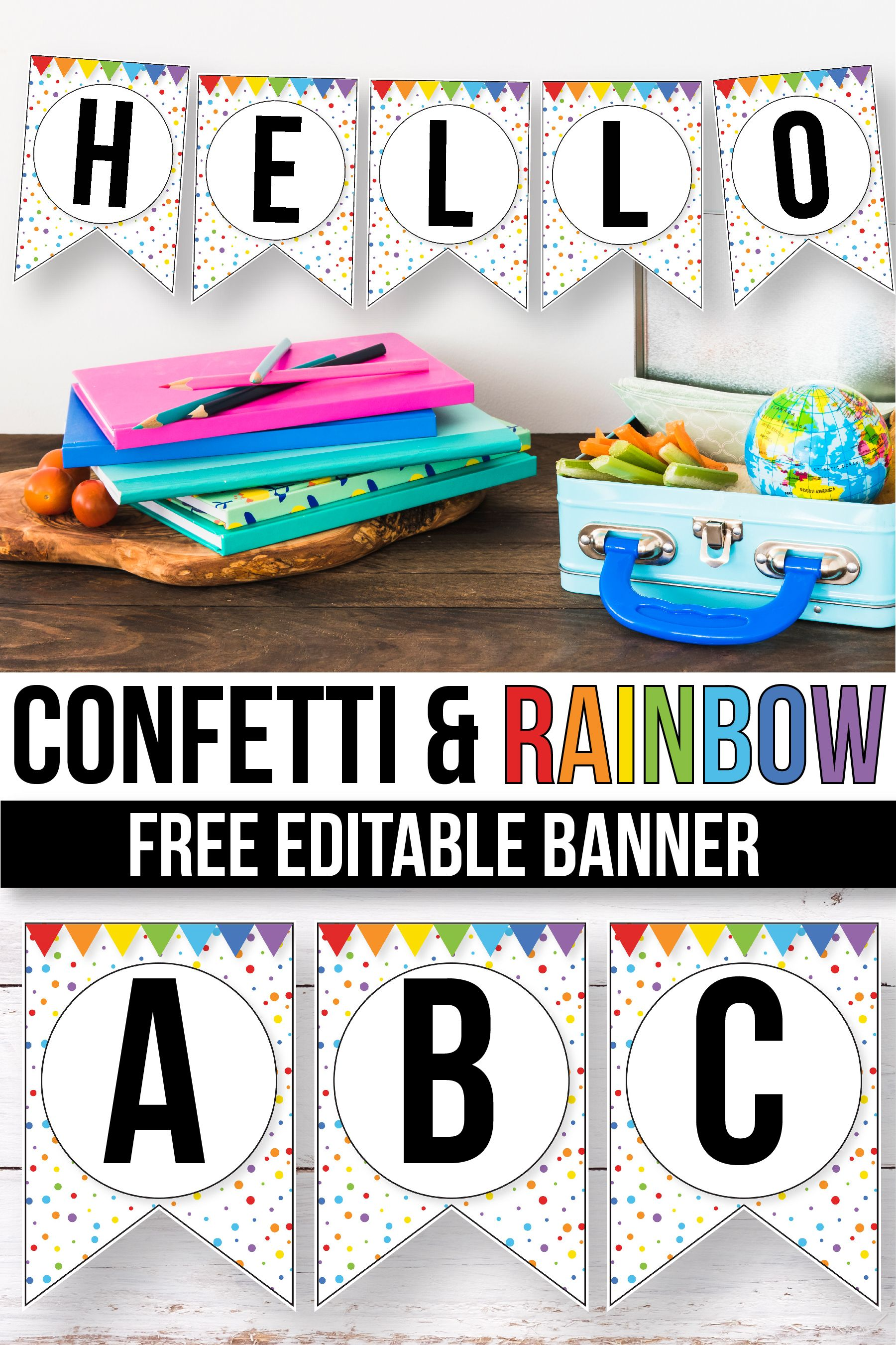 Classroom Editable Banner Template Free