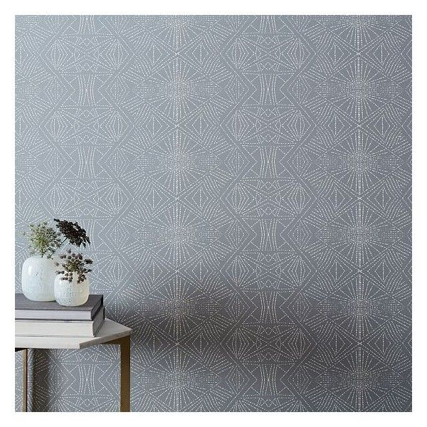 West Elm Starburst Wallpaper Platinum 299 Liked On Polyvore Featuring Home Home Decor Wallpaper Removable Wallpap Decor Home Decor Removable Wallpaper