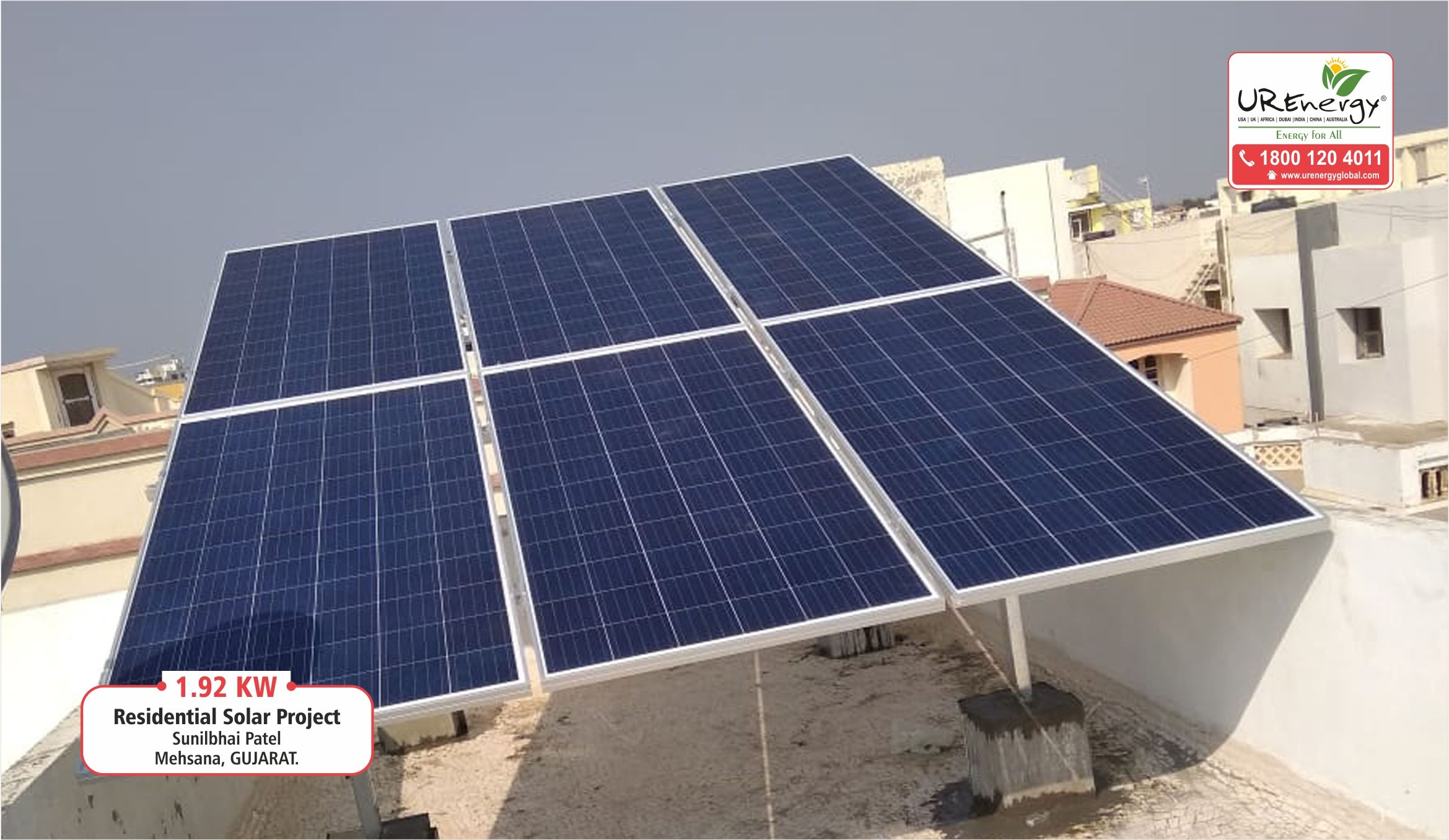 1 92 Kw Residential Rooftop Solar Power Project Installed At Gujarat India By U R Energy Team Solar Panel Inver Solar Residential Solar Solar Power