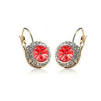 Crystal Round Stud Earrings(Random Color) – USD $ 2.37