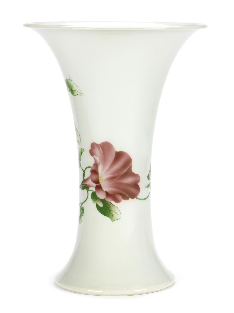 An Enamelled Trumpet Necked Vase By Makuzu Kozan Meiji Period Vase Trumpet Decor