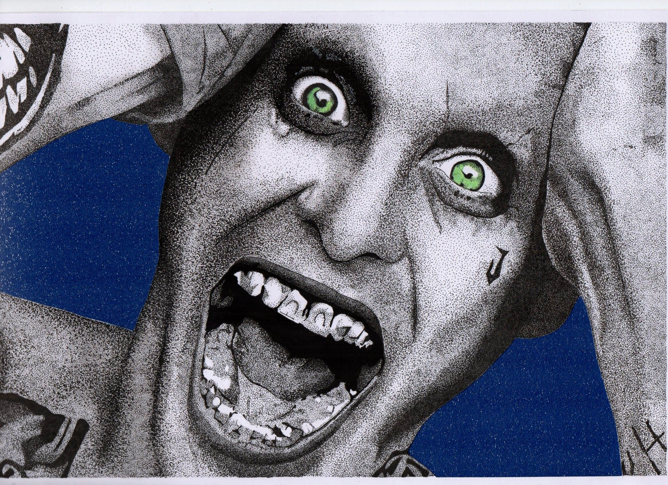 Joker Scribble Drawing : Joker a stippled ink stippledink tattoo tattoodesign