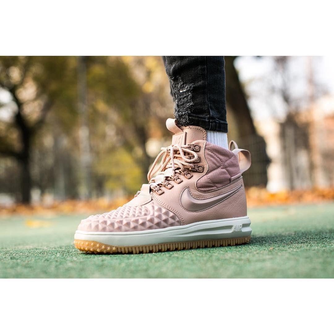 Nike Wmns Lunar Force 1 Duckboot Particle Pink Buy Via Insta Stories Nike Lunarforce Nikewmns S Sneaker Head Air Force Sneakers Nike Air Force Sneaker