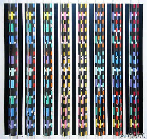 Yaacov Agam - Night-Lights Prismagraph