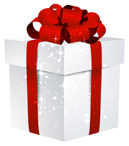 White Shining Gift Box With Bow Png Clipart Image Gifts Clip Art Christmas Gifts