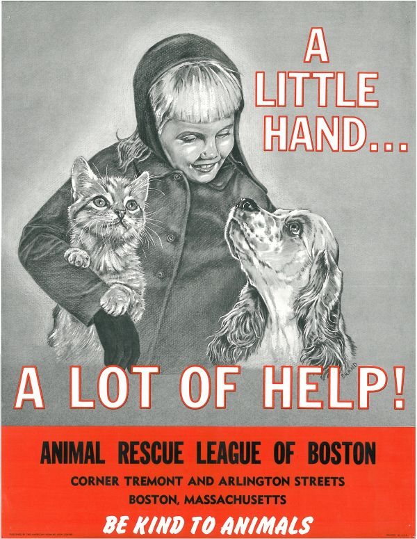 Vintage Animal Rescue League Of Boston Poster Animal Rescue
