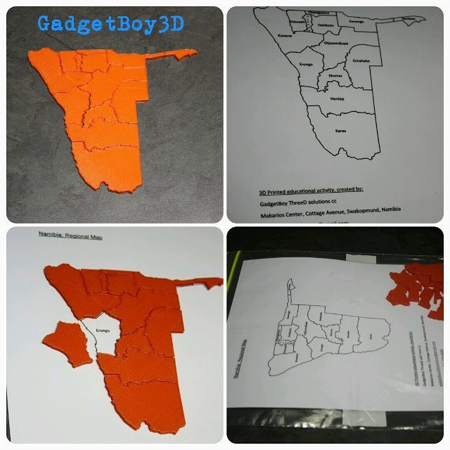 Something we liked from Instagram! One of our #educational products... Regional map puzzle of Namibia. Such a fun and interactive activity.  #3dprinted #map #puzzle #stem #educational #steameducation #3Dprinting #Namibia #GadgetBoy3D #supplementary #activity #fun #3d #flashforge #3dprinter #3dprintingstore by gadgetboy3d check us out: http://bit.ly/1KyLetq