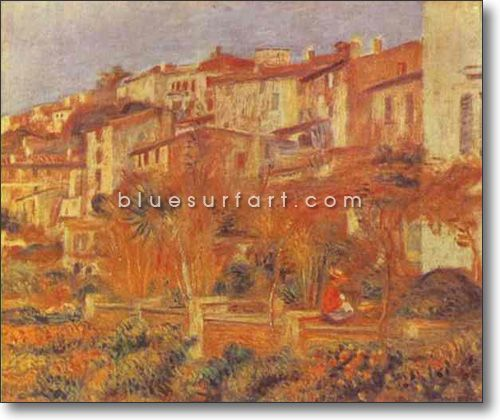 Terrace at Cagnes - £124.99 : Canvas Art, Oil Painting Reproduction, Art Commission, Pop Art, Canvas Painting