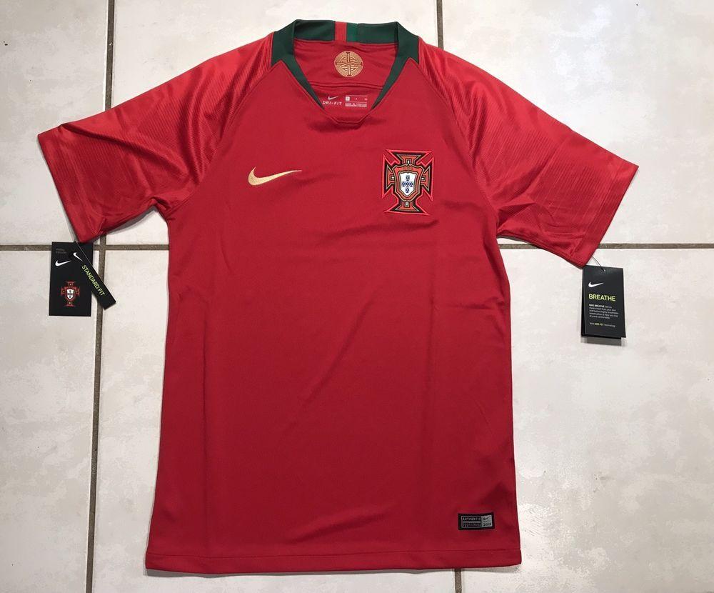 NWT NIKE Portugal National Team 2018 Soccer Jersey Men's Small   eBay   Soccer world, Nike ...