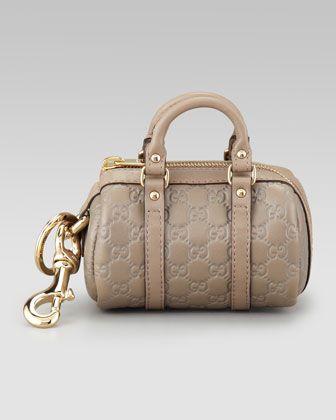 5671c4bd220 Mini Boston Bag Joy Key Fob Charm by Gucci at Neiman Marcus.