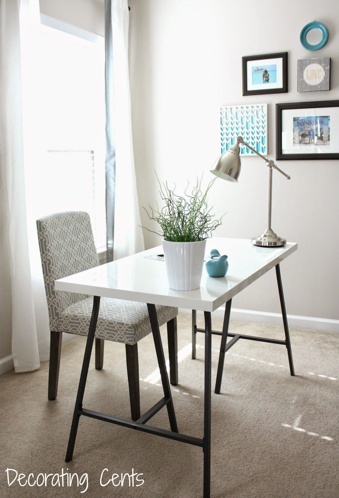 ikea bedroom office. Master Bedroom Office: Ikea Lerberg Legs And Linnmon Glossy White Desktop Office