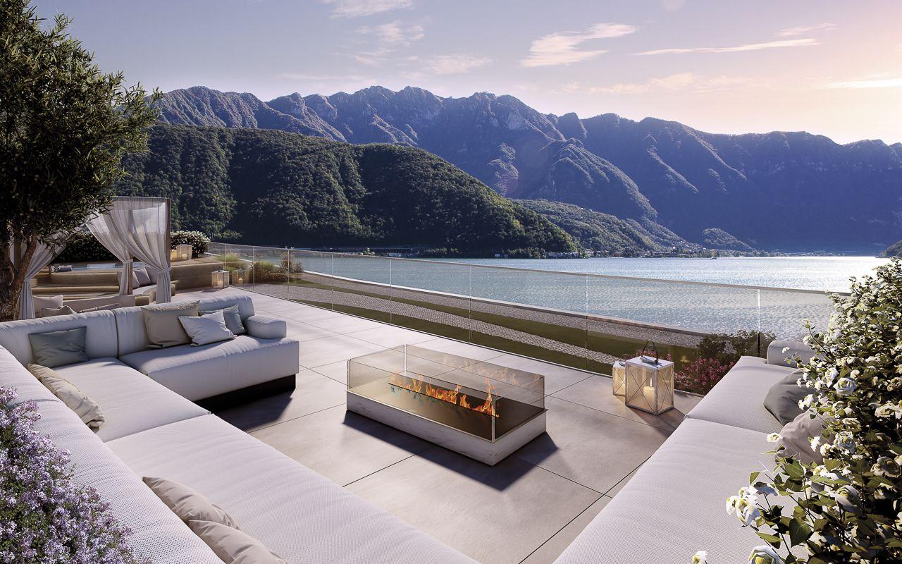 Magnifico attico di lusso vista lago con esclusivo tetto