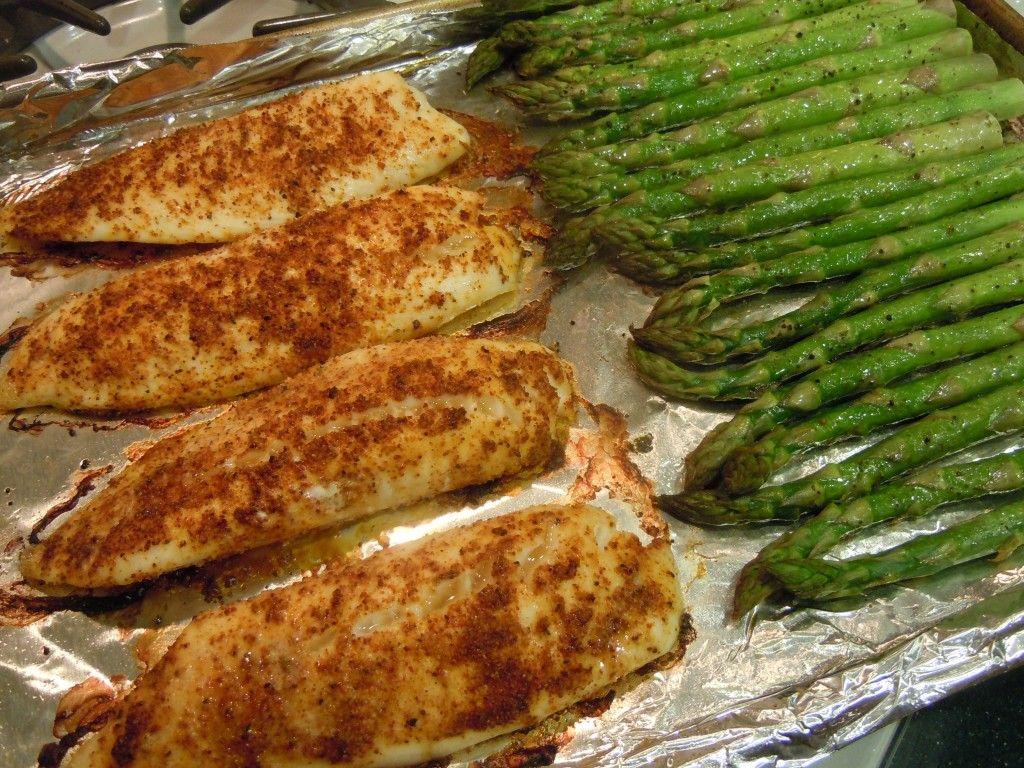 Easy tilapia and asparagus recipe