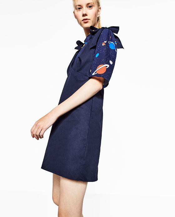 Image 4 of TIE-UP STRAP DRESS from Zara