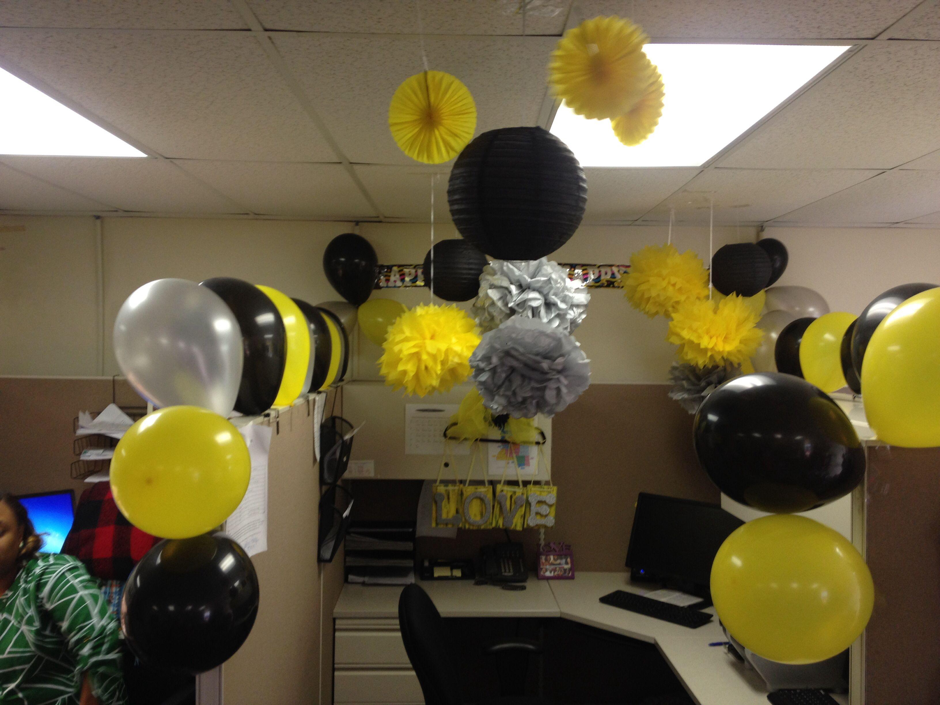 Birthday Office Decor My Style Pinterest Birthdays Cubicle