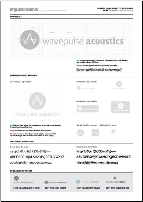 Logo identity guideline template for download a4-identity - sample user manual template