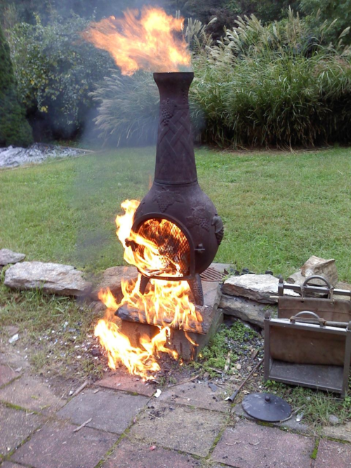 Lifetime Warranty But Not Paint Chimnea Outdoor Chiminea Fire Pit Chiminea