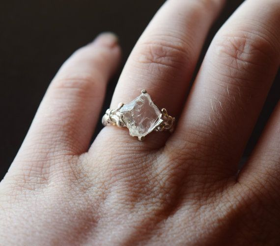 Raw Diamond Engagement Ring Rough Natural And Uncut By Avello