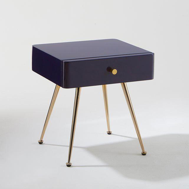 Mesita de noche con 1 cajón Topim: Inspiración vintage para una ...
