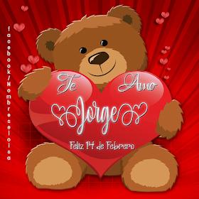 Oso Con Corazon San Valentin Te Amon En 2020 Oso Con Corazon Corazones De San Valentin Corazones Con Nombres