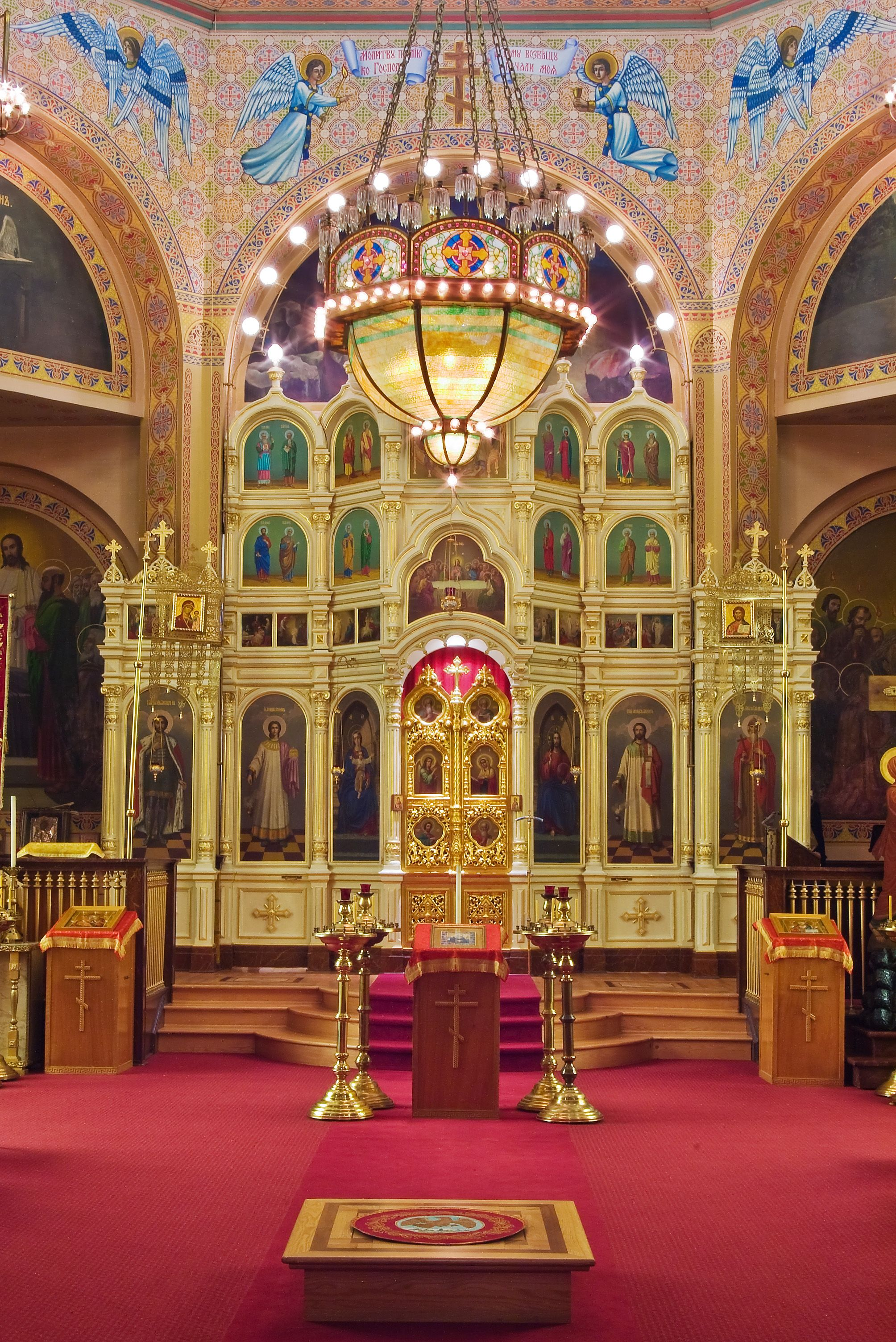 Iconostasis At Holy Trinity Cathedral Chicago Illinois