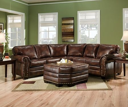 Sectional - Simmons Split J Wedge Sectional w/nailed trim