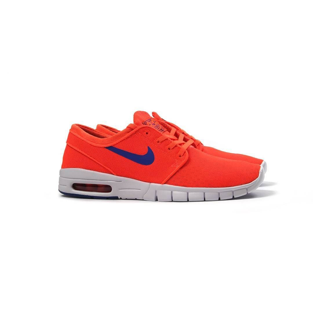 newest collection a6eef 61c5a Repost  Nike SB Stefan Janoski Max (Total Crimson Racer Blue-White)