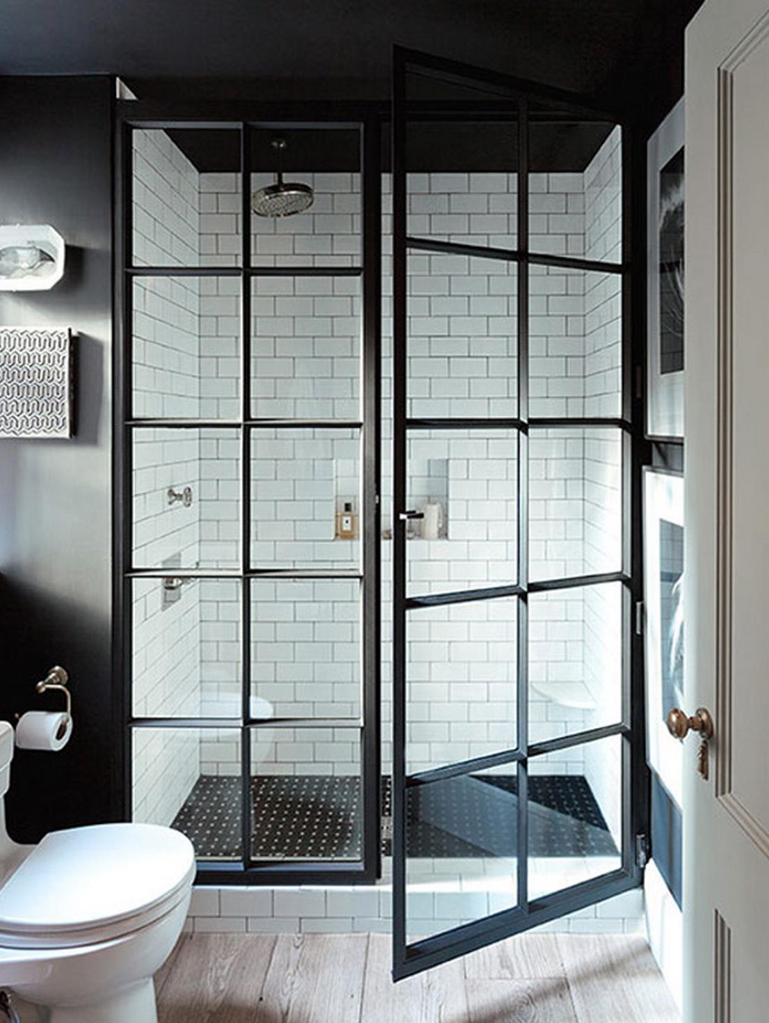 Black Steel Framed Shower Doors By Jenny Wolf Beautiful