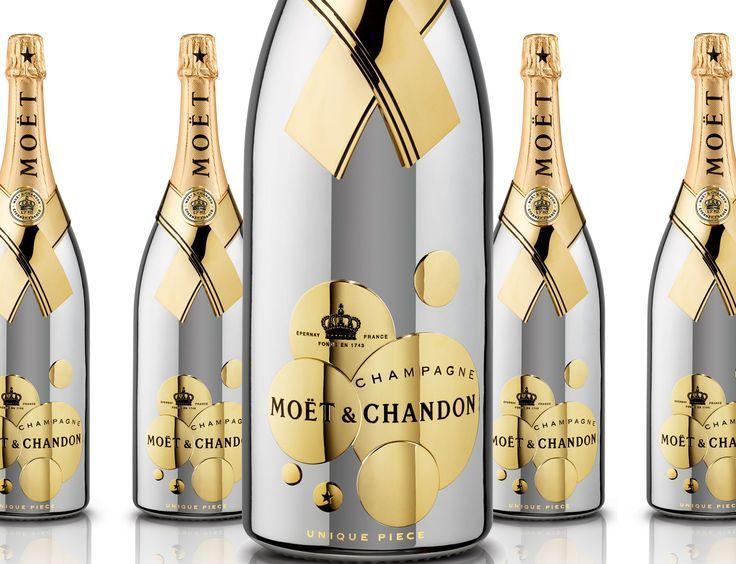 Moet Gold Champagne Bottle 6L | transformed moet et chandon limited edition gold magnum champagne moet ...