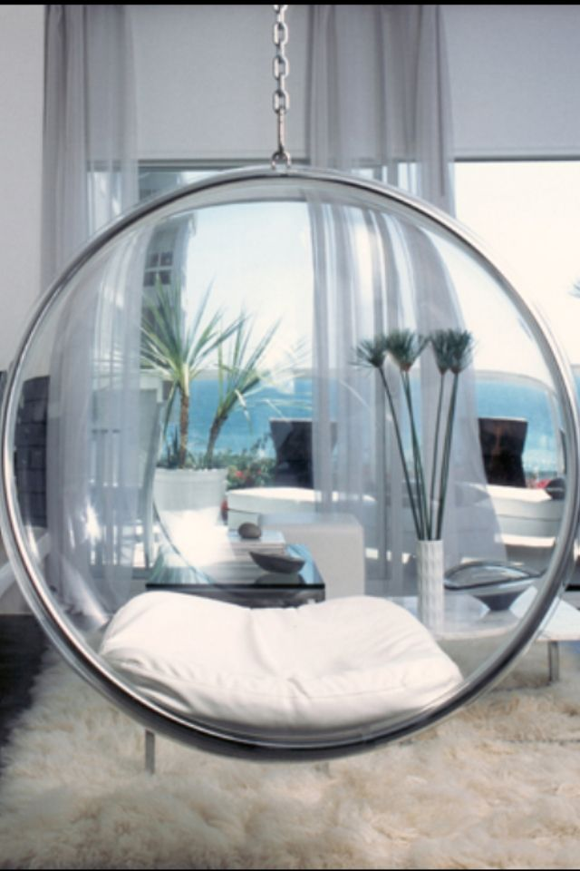 Bedroom Glass Chair Diy Posture Hanging Chairs Bubble Futuristic Furniture