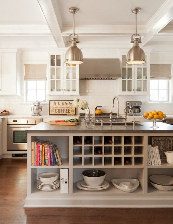 Nice Kitchen Island With Open Shelves Part - 9: Ruth Richards Interiors - Kitchens - Light Taupe Kitchen Island, Kitchen  Island With Open Shelving, Kitchen Island Shelves, Kitchen Island W.