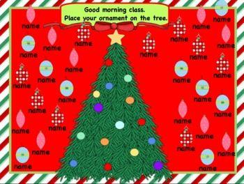 Picture A Christmas Flipchart.Attendance Christmas Interactive Flipchart For Promethean