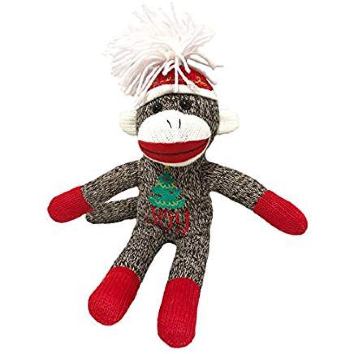 Holiday Season Sock Monkey Brown #sockmoneky Holiday Season Sock Monkey Brown #sockmoneky