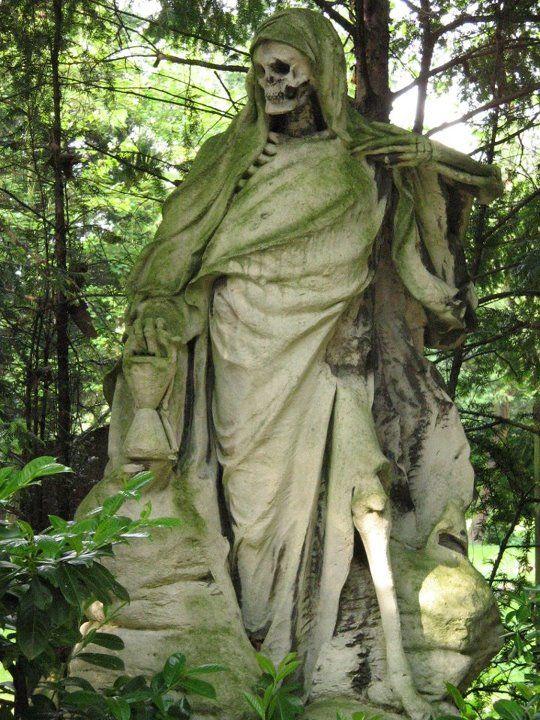 The Grim Reaper August Schmiemann | Cemetery statues ...