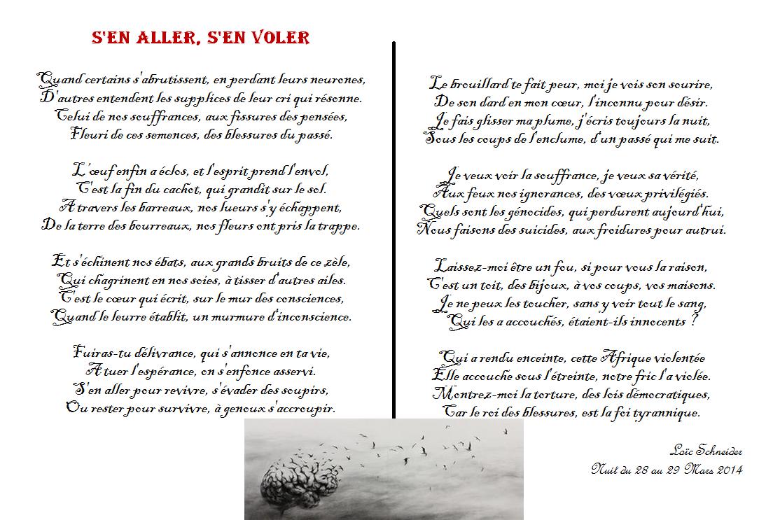 125 Sen Aller Sen Voler Poeme Poesie Artiste