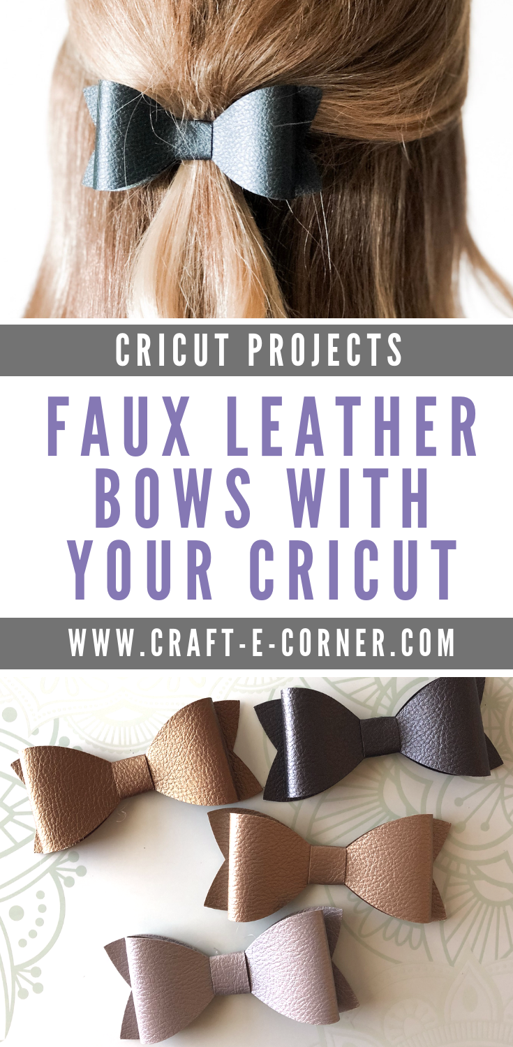 DIY Faux Leather Bows with a Cricut