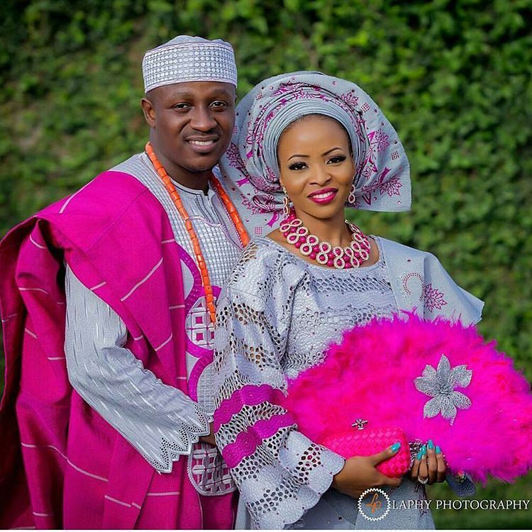 Regal and colourful! Toyin and her groom. Captured by ...