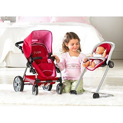 Hauck Doll Stroller Pram I'coo Grow With Me PlaySet 4in1 ...