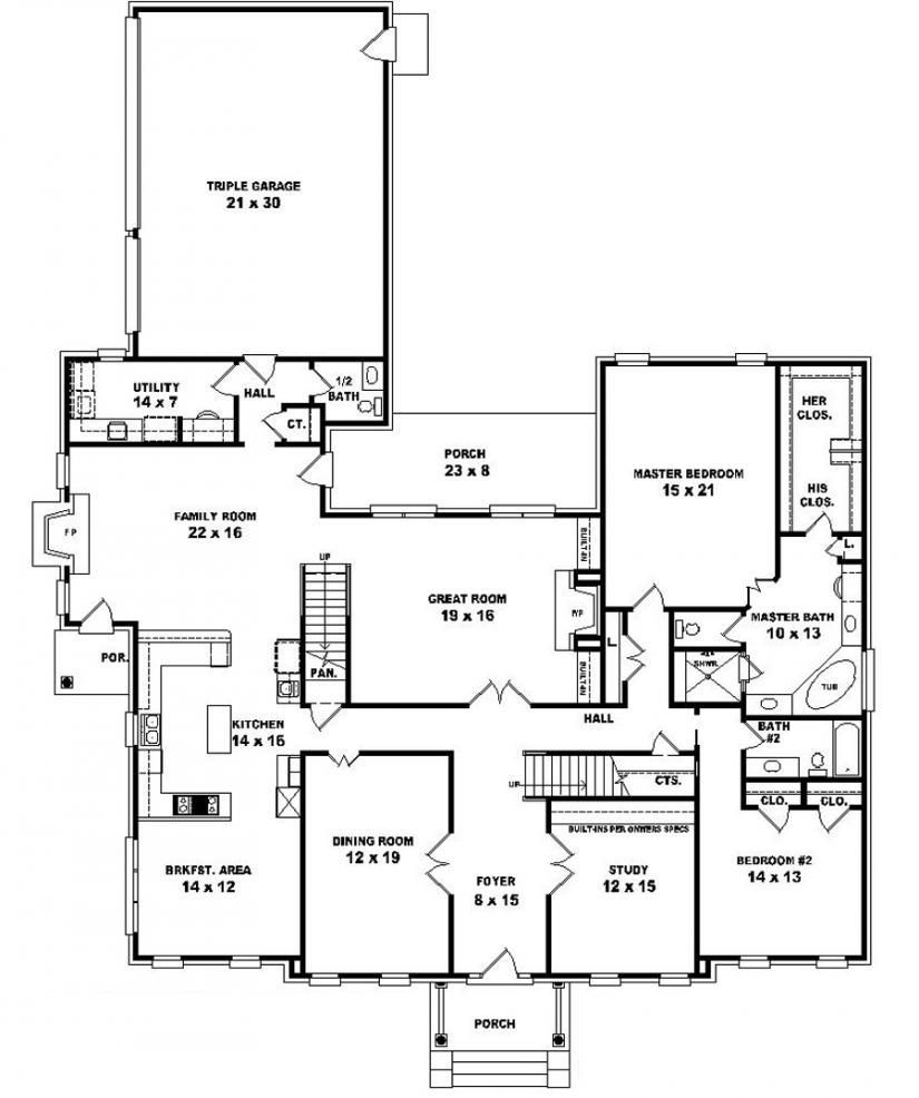 5 Bedroom Single Story House Plans Http Uhousedesignplans Com 5 Bedroom Single Story House Plans Modular Home Floor Plans Bedroom House Plans Floor Plans