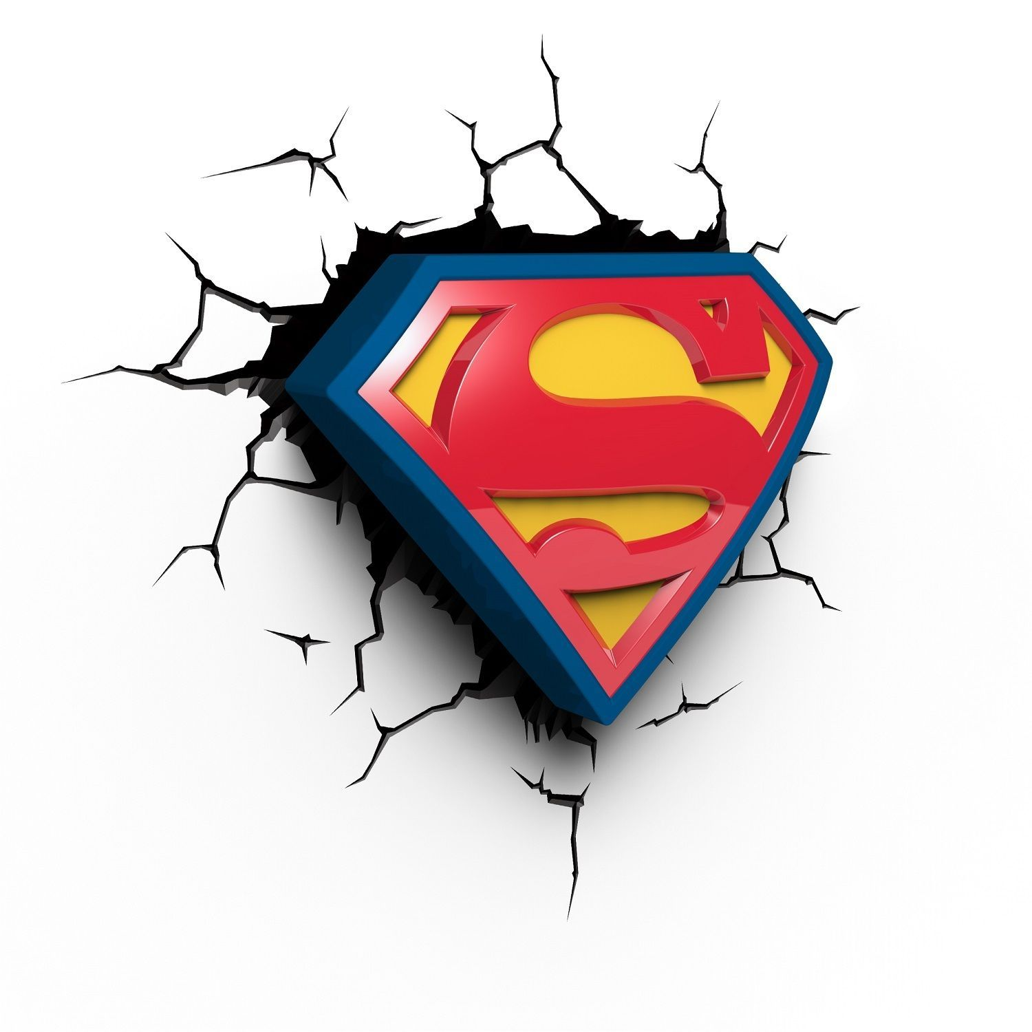 Superman logo dc ics 3d wall deco night light character View more on the LINK superman